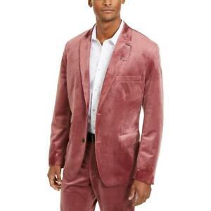 INC Mens Pink Velvet Slim Fit Suit Separate Two-Button Blazer Jacket L BHFO 5244