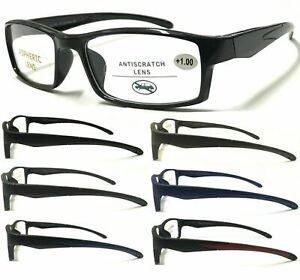 R152 Men's Sports Style Reading Glasses/Plastic Frame/Comfort Designed  ^^^^^