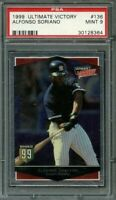 1999 ultimate victory #136 ALFONSO SORIANO new york yankees rookie card PSA 9