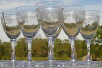 Saint Louis - Service de 6 verres à vin cuit en cristal taillé, modèle Manon