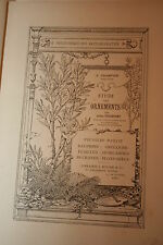 ETUDE DES ORNEMENTS  ARTS DECORATIFS VOLUME ILLUSTRE  BON ETAT
