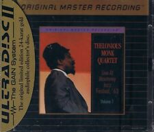 Monk, Thelonious Quartet Live at the Monterey Jazz Festiv Vol.1 MFSL Gold CD Neu
