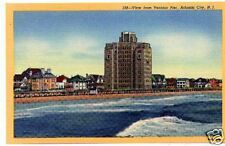 Ventnor Pier, NJ linen post card unused 1940's