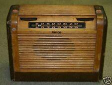 Vintage PHILCO Wood/Leather Tube Radio 46-350 Code 121