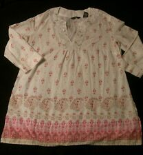 Nice NEW YORK & COMPANY Floral Blouse, MEDIUM. Sequins & Beading. EUC