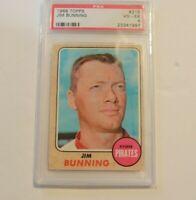 1968 Topps Jim Bunning #215 PSA 4 Pittsburgh Pirates