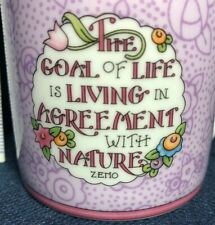 New At Home w/Mary Engelbreit The Goal of Life Nature coffee cup tea Mug purple