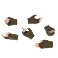 "3 Pair 1/6 Female Hand Models with Gloves for 12"" Phicen Action Figure Toy B"