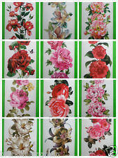Wholesale 15 Sheets Water Transfer Temporary Tattoos Flower B