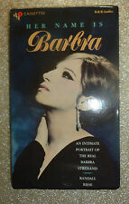Her Name Is Barbra by Randall Riese AUDIOBOOK cassettes w/FREE CD Streisand