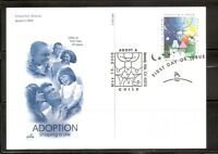 US SC # UX315 Adoptiing a Child Type Postal Card FDC. Artcraft Cachet.