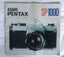 Asahi Pentax SP1000 manual de instrucciones