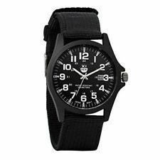 Reloj Militar para Hombre Movimiento de Cuarzo analógico con Pulsera de Nylon C
