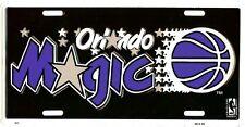 ORLANDO MAGIC NBA METAL LICENSE PLATE AUTO TAG BLACK #768