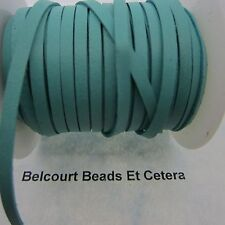 """20' Deer Leather Turquoise Lacing 1/8"""" Wide  Real Leather Crafts Made in USA"""