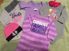 Lot 7 Piece Girls Size 3 Months Clothes And Accessories