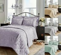 Luxuries SAVOY Jacquard Duvet Quilt Cover Bedding Set All Size Or Bed Spread Set
