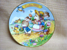 """Avon 1993 Easter Parade 5"""" Mini Plate Trimmed in 22 K Gold Bunny Chick Chipmunk"""