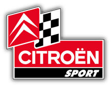 Citroen Sport Racing Car Bumper Sticker Decal - 9'', 12'' or 14''