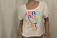 NWT Aeropostale Women's Crop Graphic Tee Aero New York Color White Sz XLarge