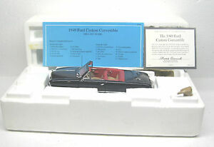 Franklin Mint ~ 1949 Ford Custom Convertible ~ 1:24  ~ Diecast