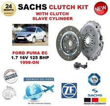 FOR FORD PUMA EC 1.7 16V 125 BHP 1998-ON SACHS CLUTCH KIT with SLAVE CYLINDER