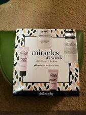 Philosophy Facial Skin Care 4pc Set Facial Wash Cream Eye Firm Body Emulsion