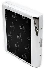 Pierre Cardin Cigarette Case Double Layer Black and Chrome Finish