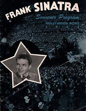 FRANK SINATRA 1943 HOLLYWOOD BOWL ORIGINAL CONCERT PROGRAM BOOK / VERY GOOD