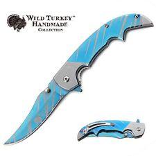 Wild Turkey Handmade Two Tone Heavy Duty Assisted Open Folding Pocket Knife