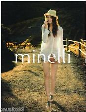 PUBLICITE ADVERTISING 105  2011  MINELLI   chaussures sandales