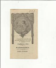 99620 SANTINO HOLY CARD SAN MARTINO VESCOVO VEZZA D OGLIO PASQUA 1918