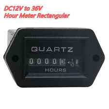 12V to 36V Truck Tractor Diesel Outboard Engine Hour Meter Guage Rectangular SYS