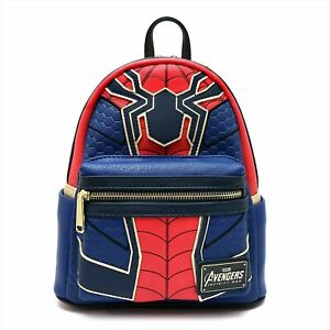 Loungefly Marvel Collab Mini Rucksack Iron Spider Man Red/Blue from Japan NEW