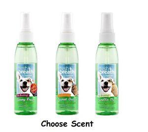 Fresh Breath for Dogs 4 oz Dental Oral Care Spray Healthy Gums - Choose Flavor