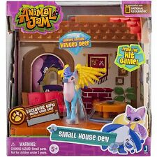 Animal Jam Small House Den Playset with Winged Deer National Geographic New!