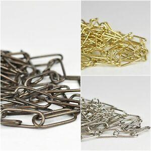 Vintage Suspension Chandelier Pendant Ceiling Light Chain | Brass Chrome Antique