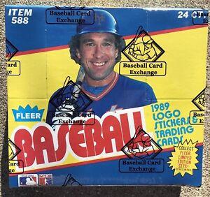 1989 Fleer ( FASC ) BBCE Sealed Unopened CELLO Baseball Box