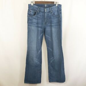 7 for All Mankind Mens Boot Cut Jeans Size 31 Medium Wash Denim Relaxed Fit