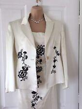 Karen Millen Ivory Black Flower Jacket 12