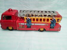 Very Rare Vintage Tin Plate  Friction Fire Truck  1960 's