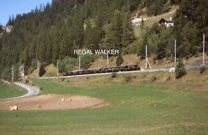 ORIGINAL 35MM OBB SWISS SWITZERLAND RAILWAY SLIDE - LOCO 412 NEAR BERGUN 2003