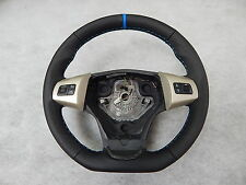 Vauxhall Corsa D Sport OPC Custom steering wheel flat bottom blue leather ring