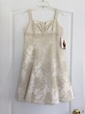 Jessica MCClintock Girls Formal Dress (Retail $80) Ivory - Size 12 NWT