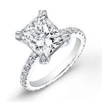 Platinum Eternity 2.40 Ct. Radiant Cut Diamond  Engagement Ring I, SI1 EGL USA