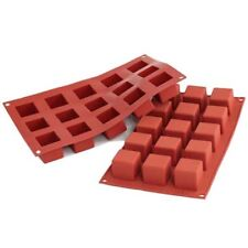 Silikomart Silicone Bakeware Cube 1.4 Oz, 35mm x 35mm x 35mm H.; 15 Cavities