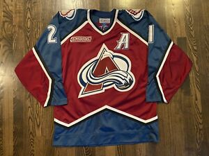Vintage STARTER Authentic PETER FORSBERG #21 Colorado Avalanche Jersey Size 48/L