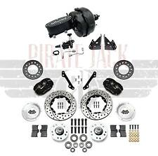 1970-81 Chevy Camaro Wilwood Disc Brake Kit 9 Booster Kit Adjustable Black Valve