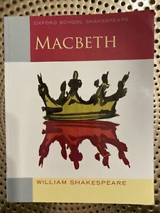 Macbeth William Shakespeare Oxford School Paperback English Book Fiction Novel