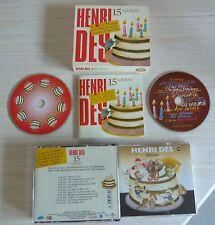 BOX 2 CD ALBUM ENFANT HENRI DES 15 ANNIVERSAIRE GATEAU  2007